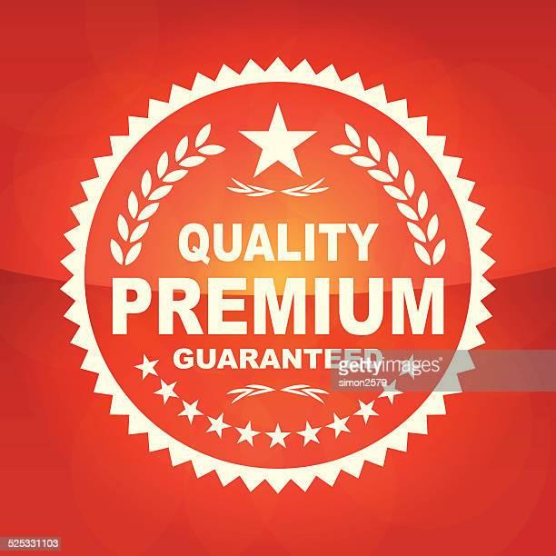 illustrations, cliparts, dessins animés et icônes de emblème de qualité premium - vendre