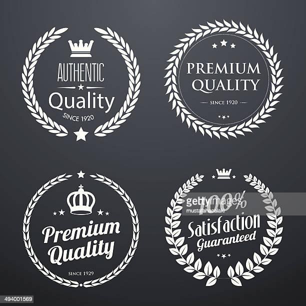 品質ヴィンテージの laurel 辺り一面 - 月桂冠点のイラスト素材/クリップアート素材/マンガ素材/アイコン素材