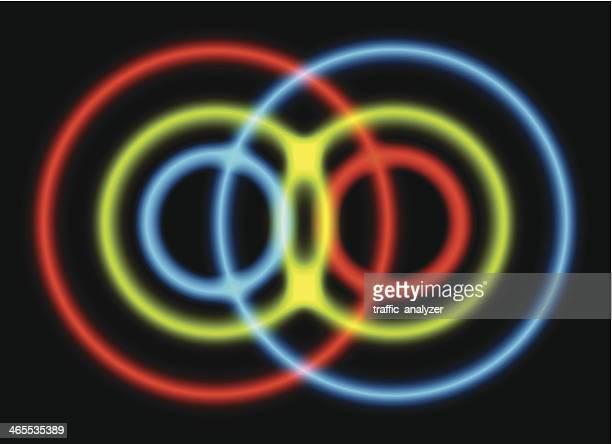 quantum entanglement symbol - quantum physics stock illustrations