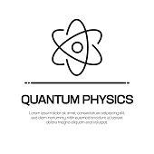 Quantum Physics Vector Line Icon - Simple Thin Line Icon, Premium Quality Design Element