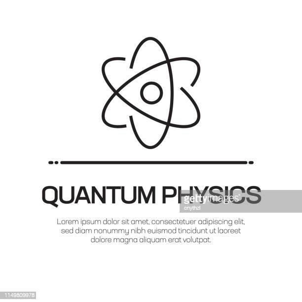 quantum physics vector line icon - simple thin line icon, premium quality design element - atomic imagery stock illustrations