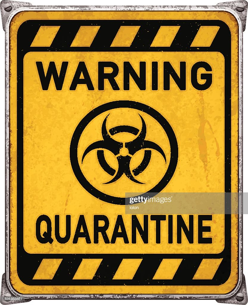 Quarantine area metal placard with biohazard symbolvector vector art quarantine area metal placard with biohazard symbolvector vector art biocorpaavc Image collections