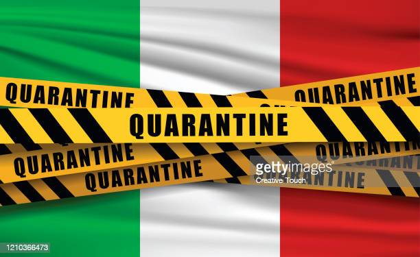 quaretina and flags - italy stock illustrations