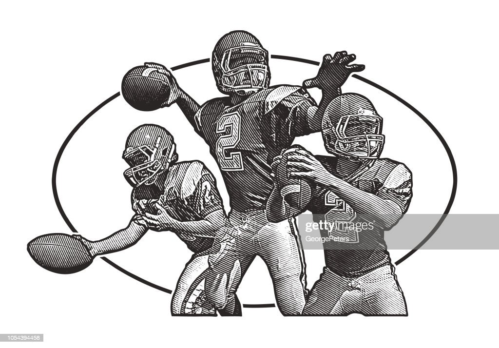 Quartarriere En Passant De Football Clipart Vectoriel Getty Images