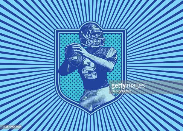 Quarterback passing football