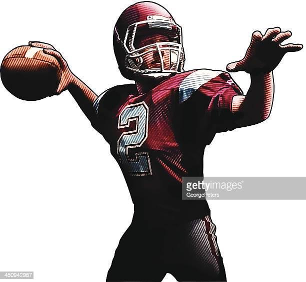 Quarterback Passing The Football