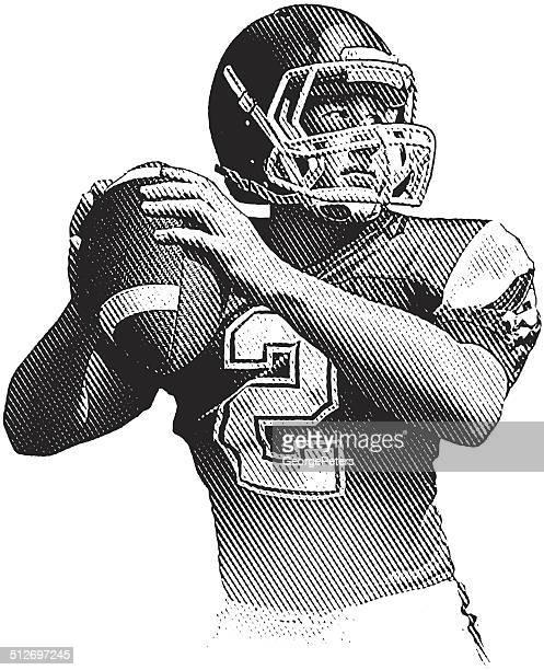 quarterback - quarterback stock illustrations