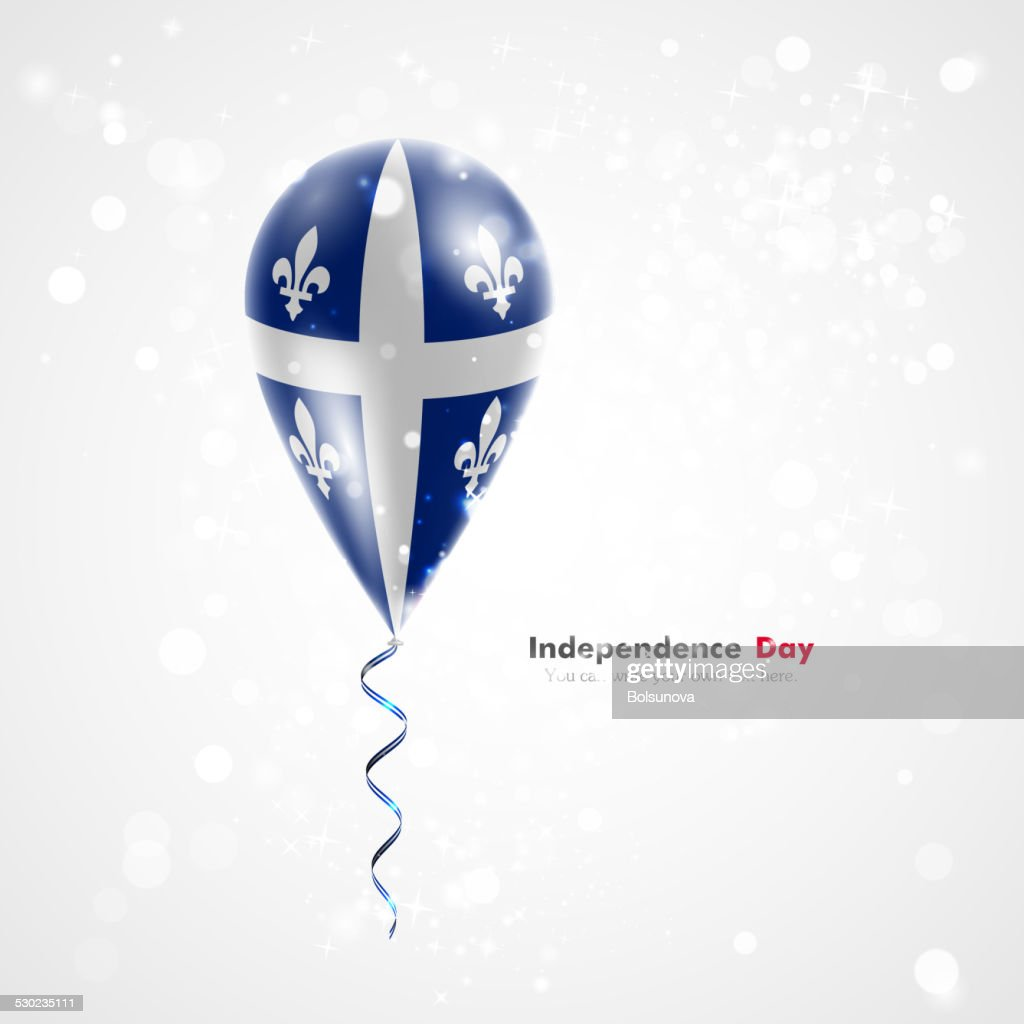 Quebec flag on balloon