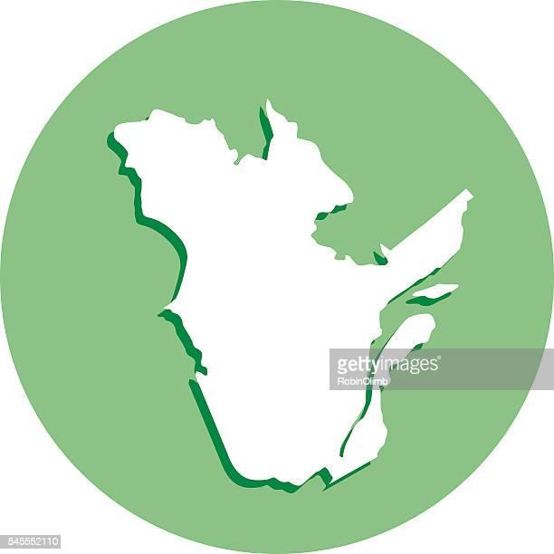 Quebec Round Map Icon