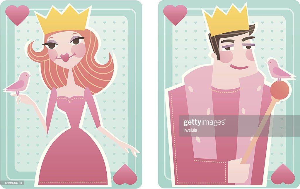 Queen and King of hearts