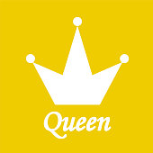 Queen Background with Crown Stock Vector Illustration
