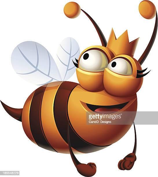 queen bee: flying - queen bee stock illustrations