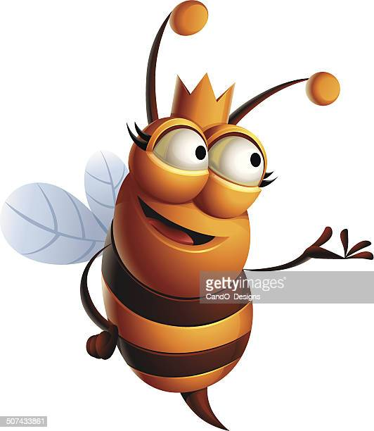 queen bee: presenting - bumblebee stock illustrations, clip art, cartoons, & icons