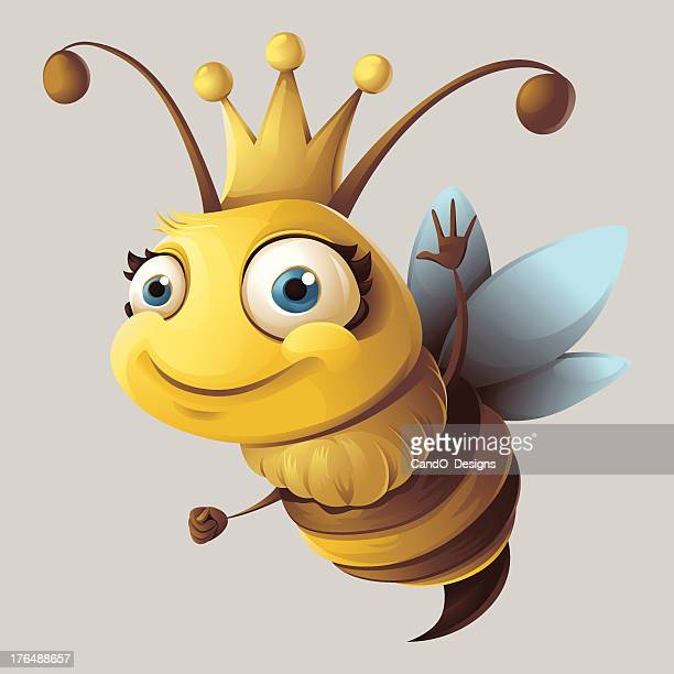 queen bee - queen royal person stock illustrations, clip art, cartoons, & icons
