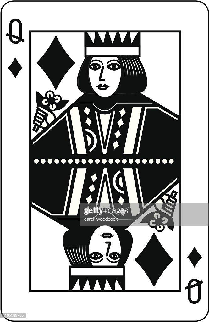 Queen of Diamonds Black
