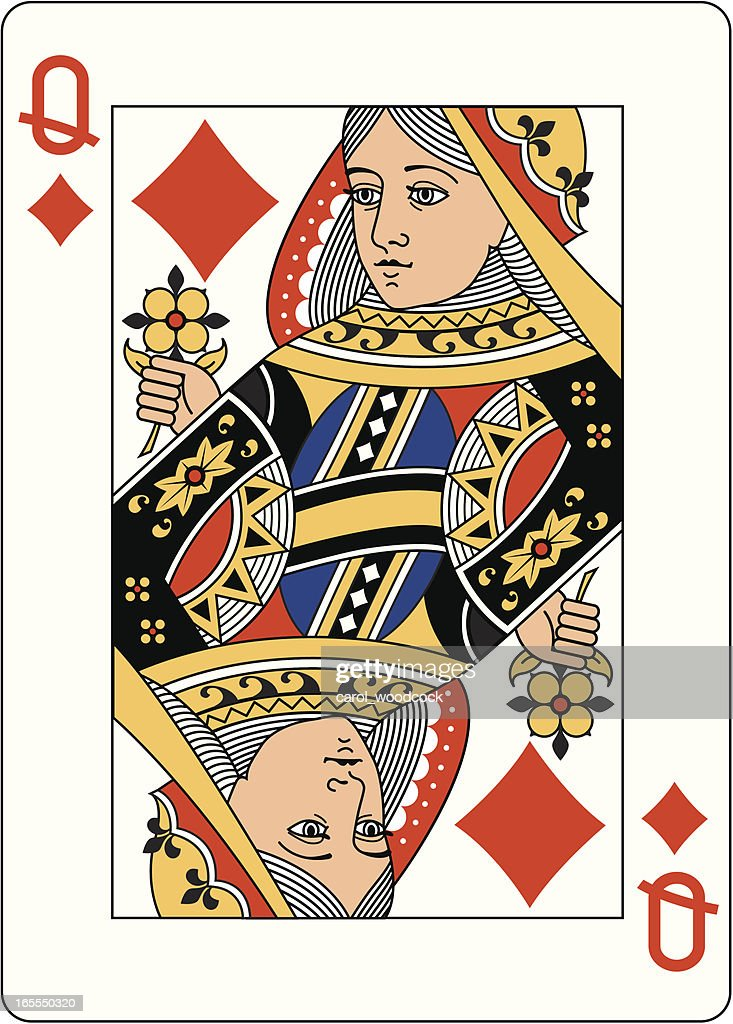 Queen of Diamonds Two playing card