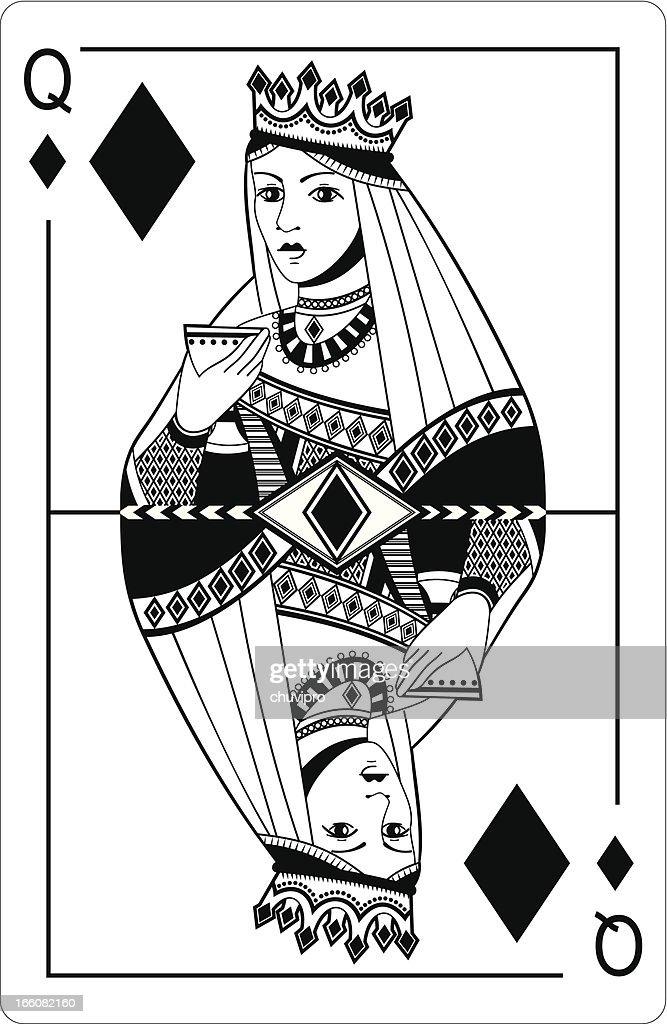Queen of diamonds.