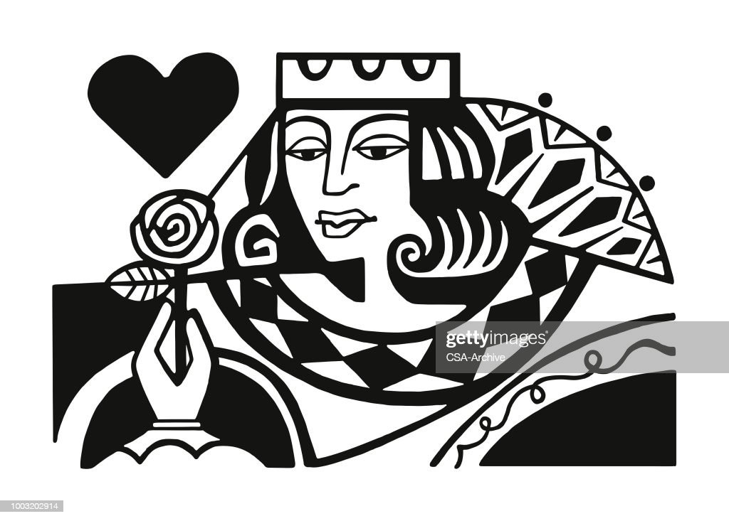 Queen of Hearts : stock illustration