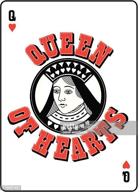 Queen of Hearts with lettering
