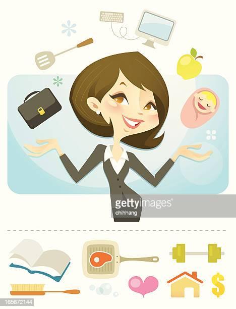 queen of juggling - juggling stock illustrations, clip art, cartoons, & icons