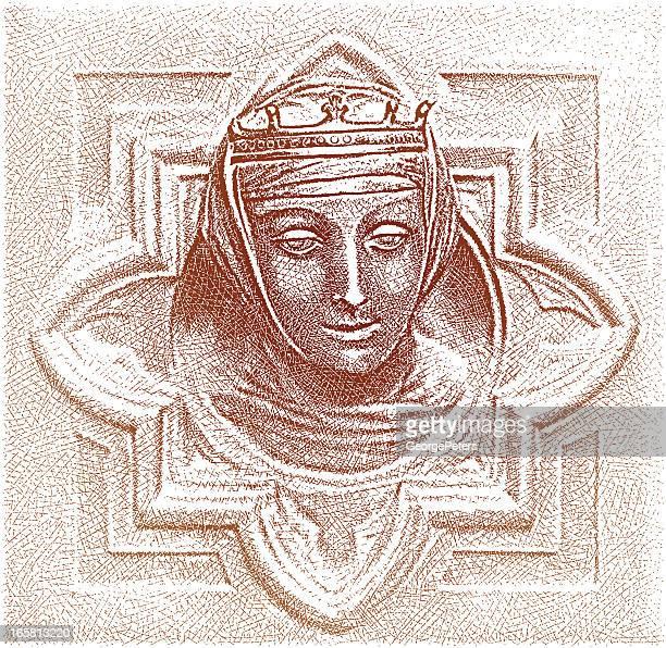 ilustrações, clipart, desenhos animados e ícones de queen-size - coroa enfeite para cabeça