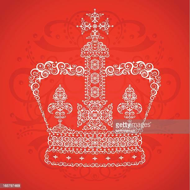 ilustraciones, imágenes clip art, dibujos animados e iconos de stock de queen's corona - british royalty