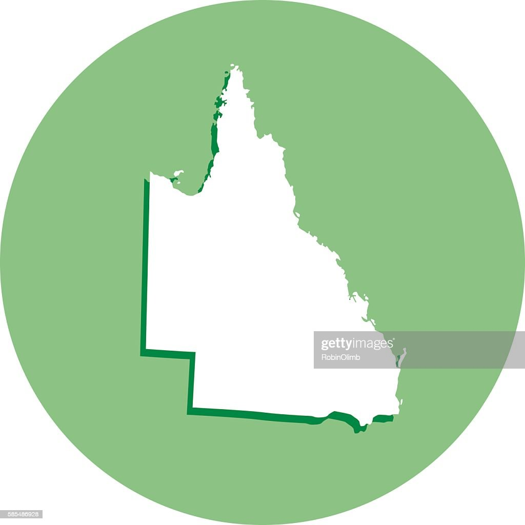 Queensland Round Map Icon