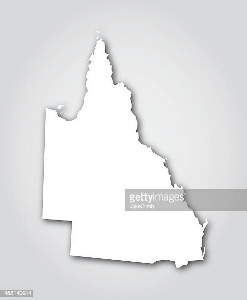 queensland silhouette white - queensland stock illustrations