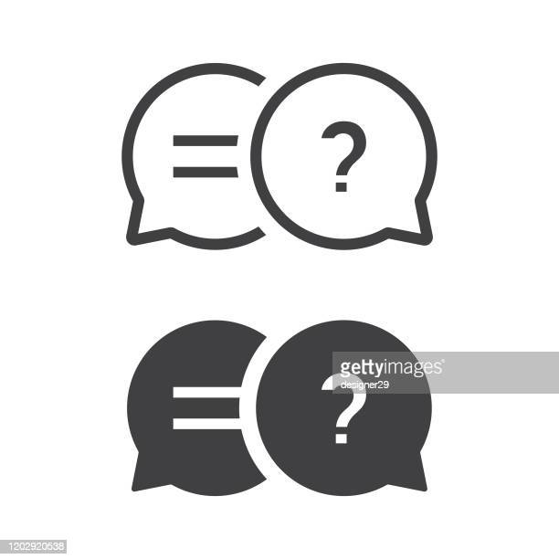 question and answer on speech bubble icon flat design. - q and a stock illustrations