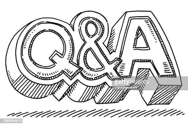 Question And Answer Symbol Drawing