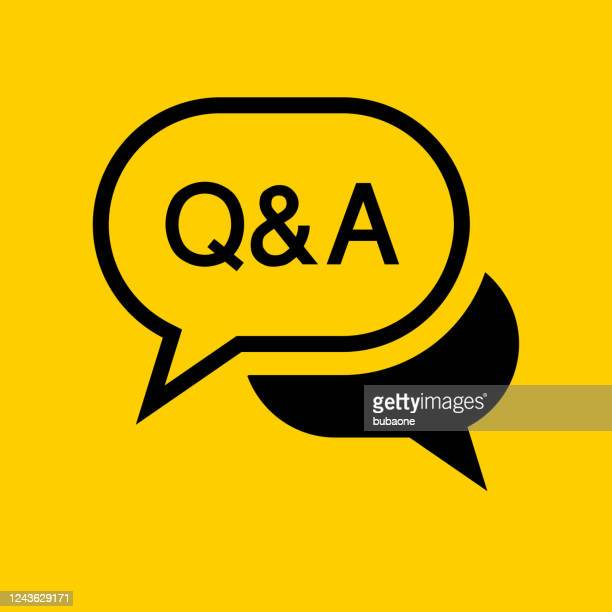 question and answer text bubble icon - q and a stock illustrations