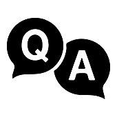 Question answer icon. Q&A symbol