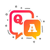 Question answer sign icon. Q&A symbol. Vector