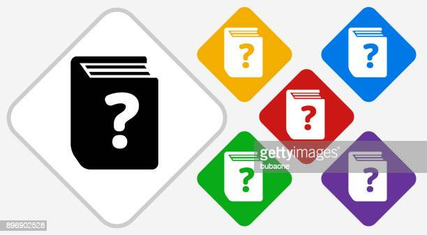 frage buch farbe diamant vektor icon - enciclopedia stock-grafiken, -clipart, -cartoons und -symbole