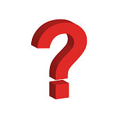 question icon 3D vector