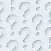 Question Mark 3D Seamless Wallpaper Pattern.