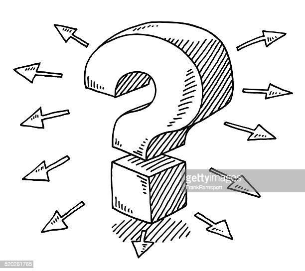 D Line Drawings Questions : Illustrations et dessins animés de point d interrogation
