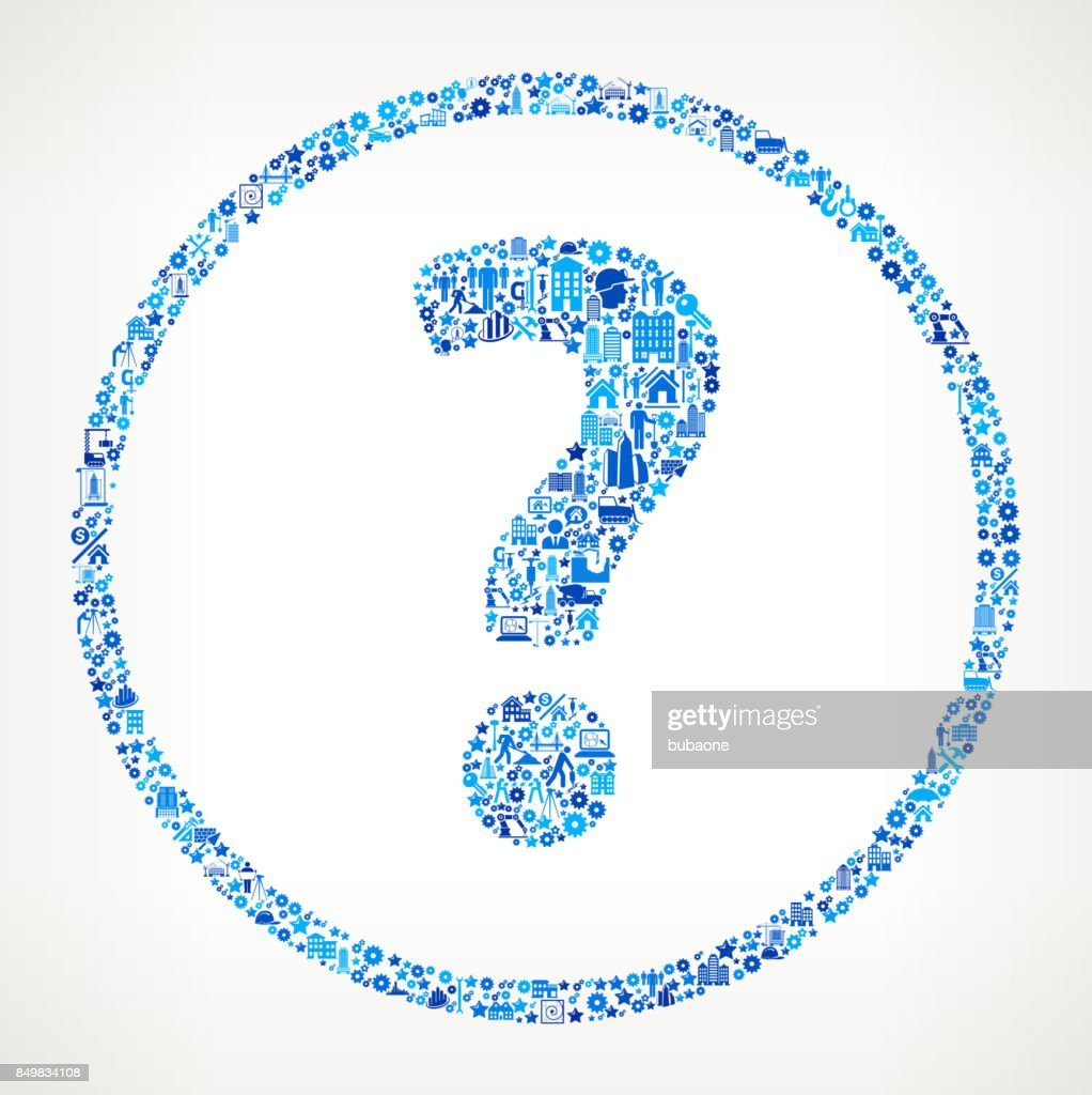 Question Mark  Construction Industry Vector Icon Pattern