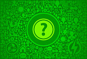 Question Mark Environment Green Vector Icon Pattern
