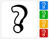 Question Mark Icon Flat Graphic Design