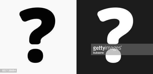 Question Mark Icon on Black and White Vector Backgrounds