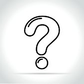 question mark icon on white background
