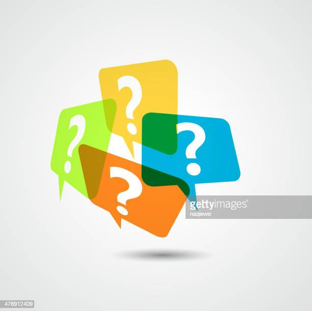 question mark icon pattern