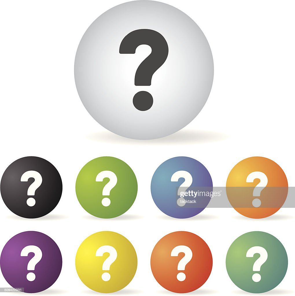 question mark icon set