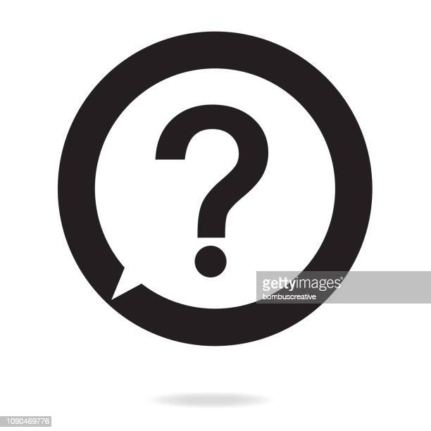 question mark icon - finance and economy stock illustrations