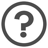 Question mark (FAQ) in circle. Vector icon