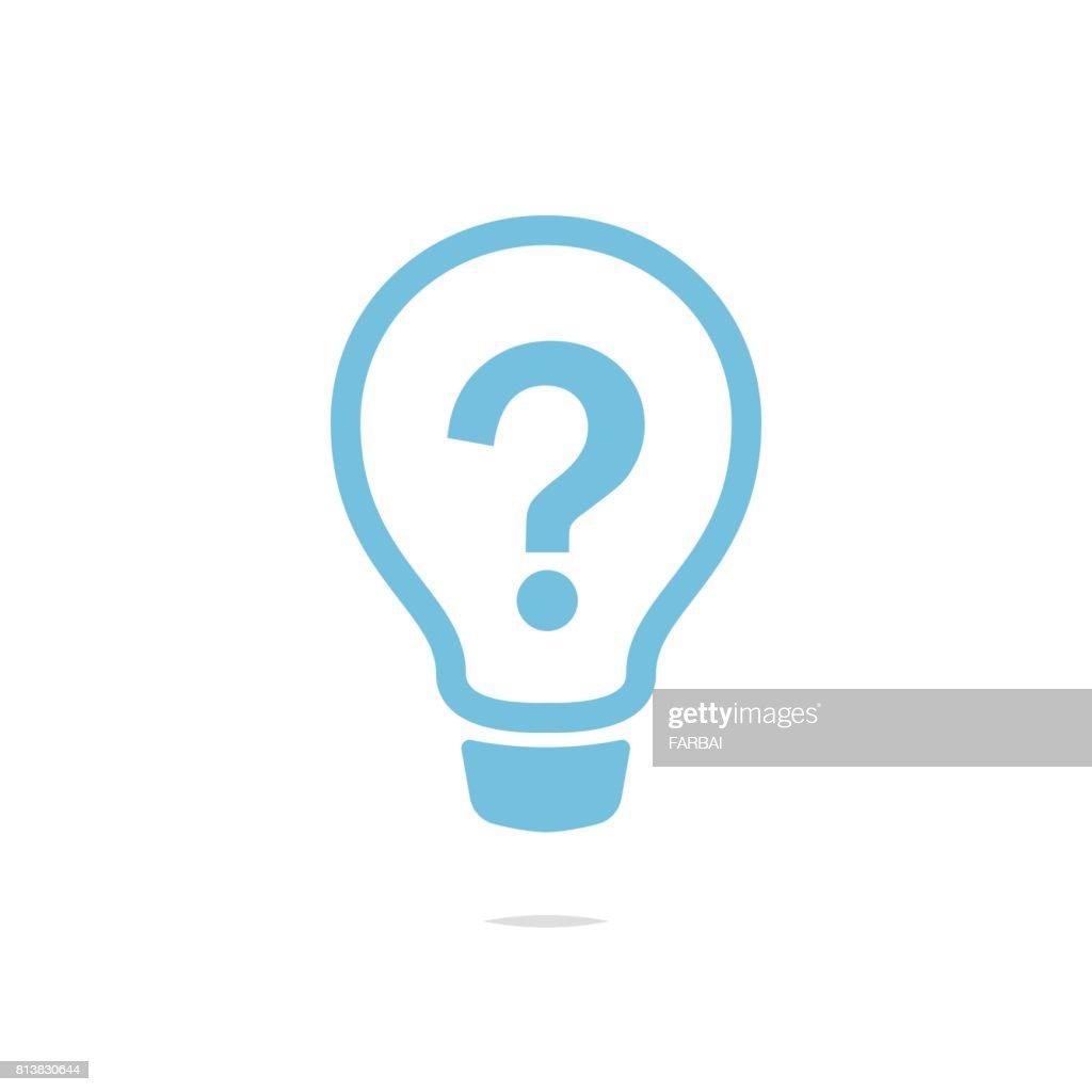 Fragezeichen Auf Glühbirne Symbol Vektor Vektorgrafik | Getty Images