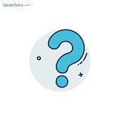 Question mark, Quiz Question icon, Assessment template, Problem, Confusion, Editable stroke