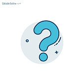 Question mark, Quiz Question icon, Assessment template, Problem, Confusion, Editable stroke