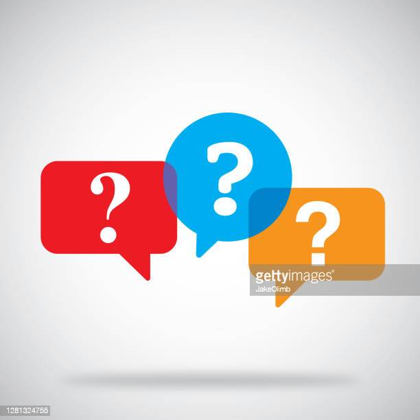 question mark speech bubbles - q and a stock illustrations
